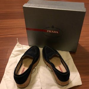 Authentic Prada Platform Loafers